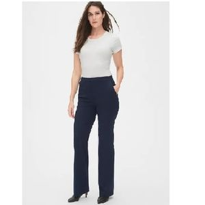 NWT Gap High Rise Slim Boot Pants 12P Blue c711